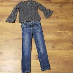Long sleeve top with Jean's
